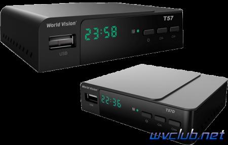 Цифровая эфирная DVB-T2 приставка World Vision T57 и Т57D